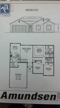 $273,000 Rock Springs 3BR 2BA, Amundsen Construction Melissa Plan