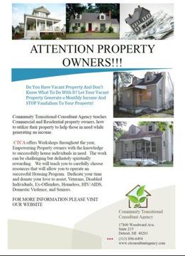 Wanted: Property Owners